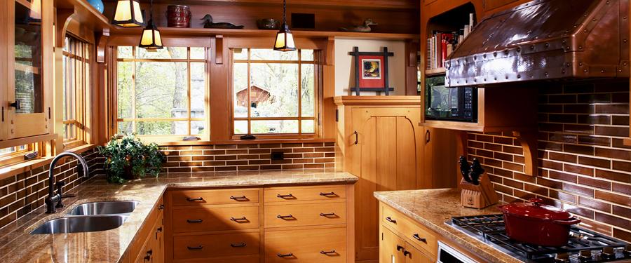 Cottage art studio joy studio design gallery best design for Arts and crafts kitchen designs