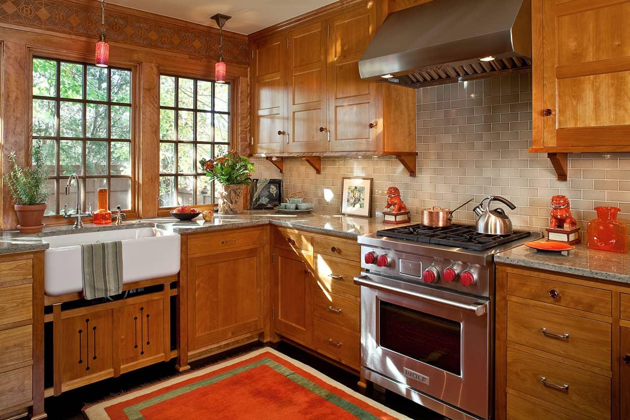 Saint paul prairie school remodel david heide design studio for Prairie style kitchen design
