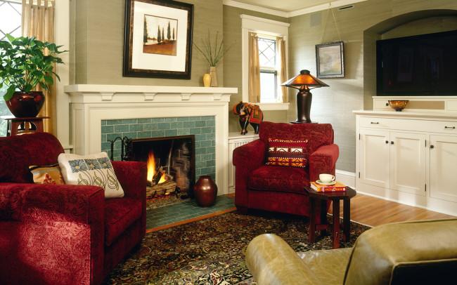 Crocus Hill Tudor Family Room