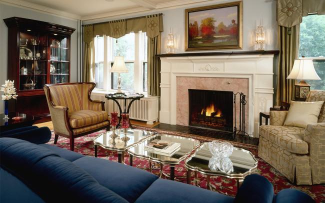 Crocus Hill Tudor Living Room