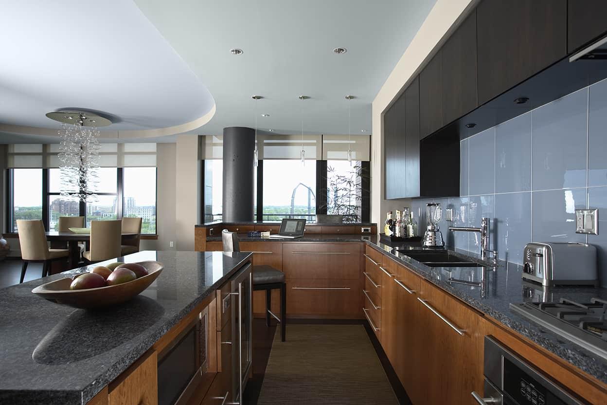 Condo Kitchen Downtown Riverfront Condo Remodel David Heide Design Studio