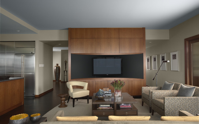 Downtown Riverfront Condo Living Room
