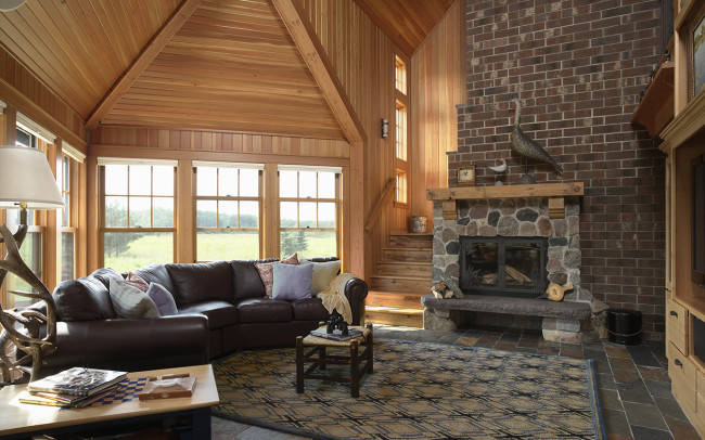 Otter Tail Hunting Lodge Living Room
