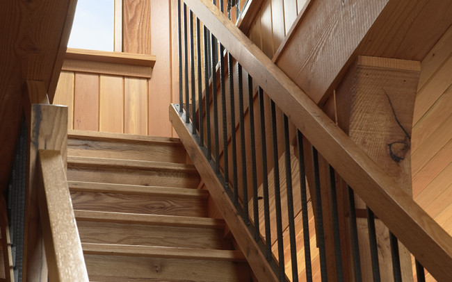 Otter Tail Hunting Lodge Stairs