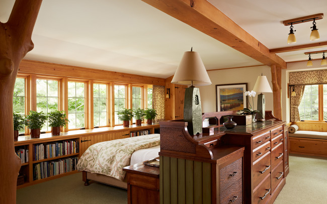 Saint Croix River Cabin Master Bedroom