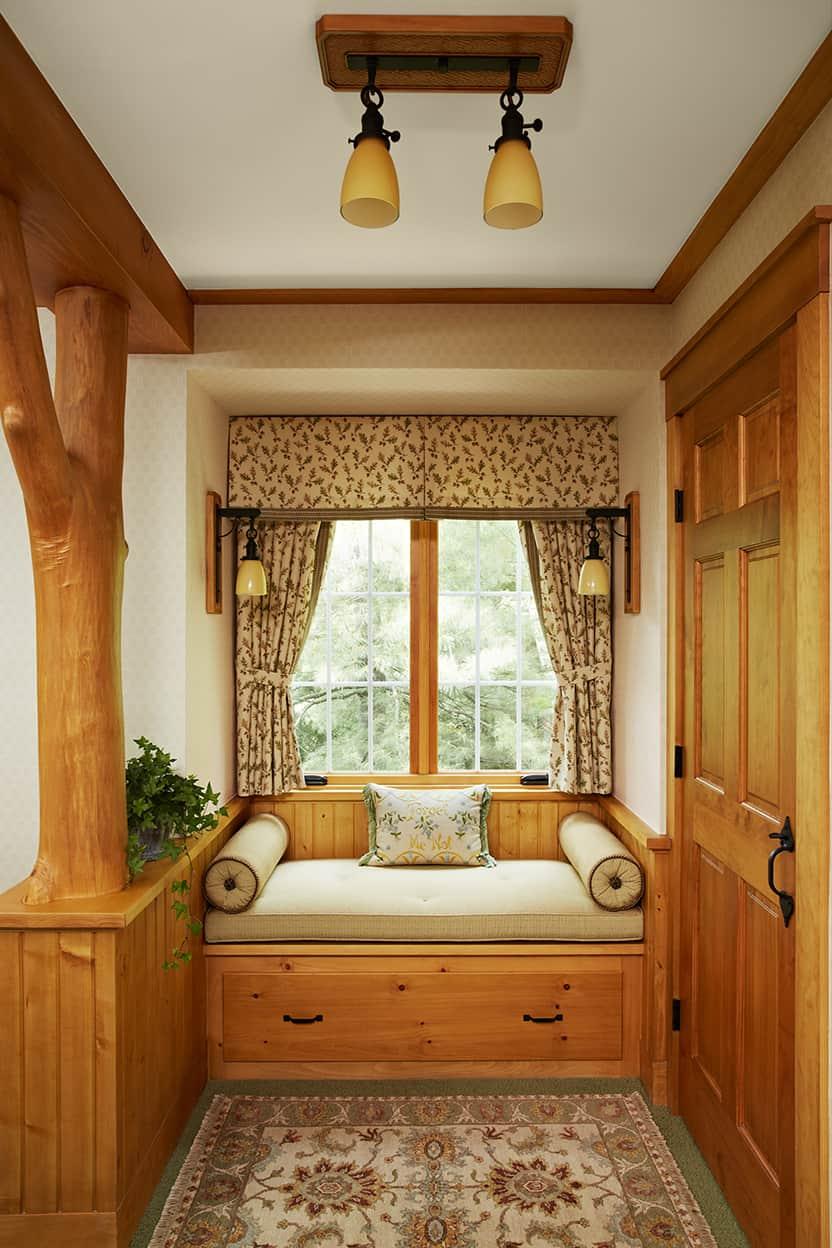 Saint Croix River Cabin - Master Bedroom Window Seat