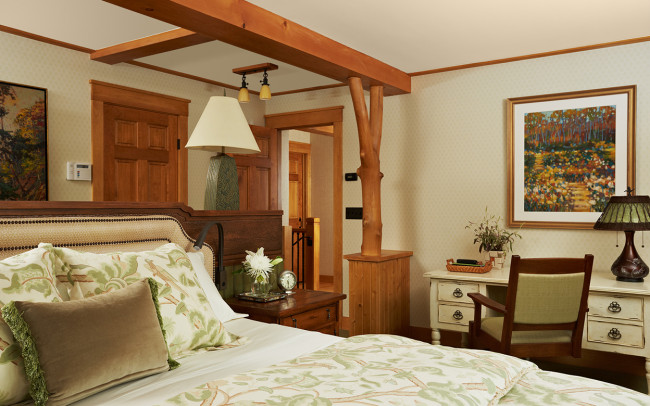 Saint Croix River Cabin Master Bedroom