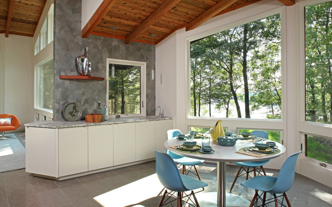 Saint Croix River Modern Dining Room