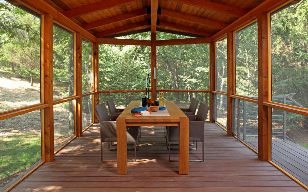 Saint Croix River Modern Screened Porch