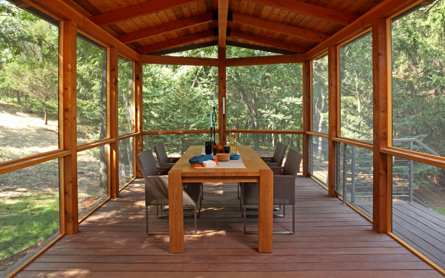 Saint Croix River Modern Screened Porch