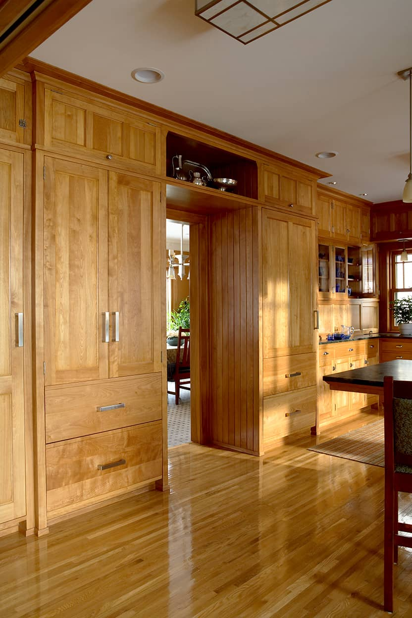 Kitchen pantry cabinets closed