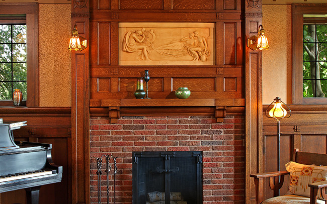 Summit Tudor Revival Fireplace