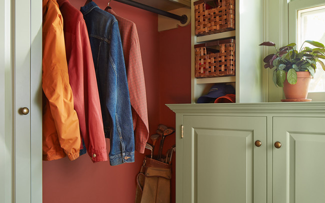 Whittier Foursquare Mudroom