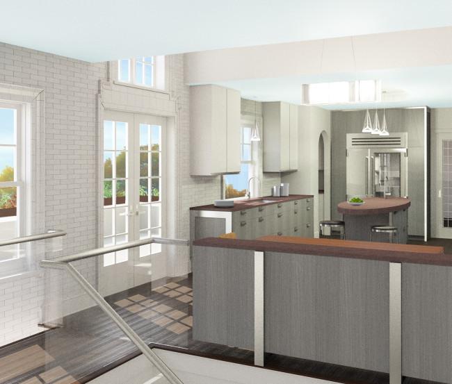 interior render - kitchen
