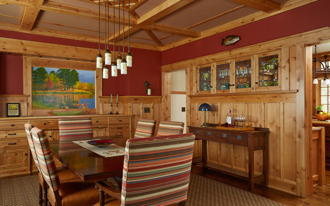 Tomahawk Lake House Dining Room
