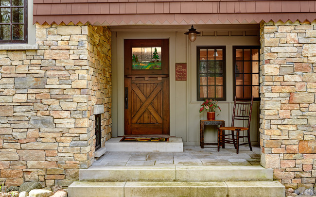 Tomahawk Lake House Front Door