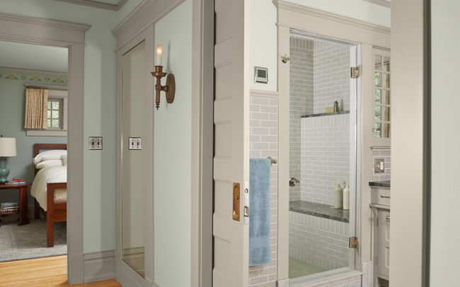 master bath pocket door