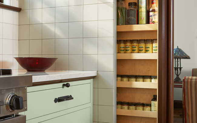Pull out hidden spice rack